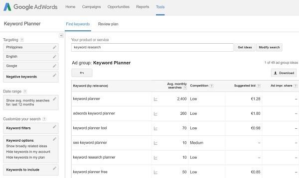 adwords-keyword-planning-tool